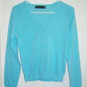Medium ZARA Baby Blue V Neck Sweater